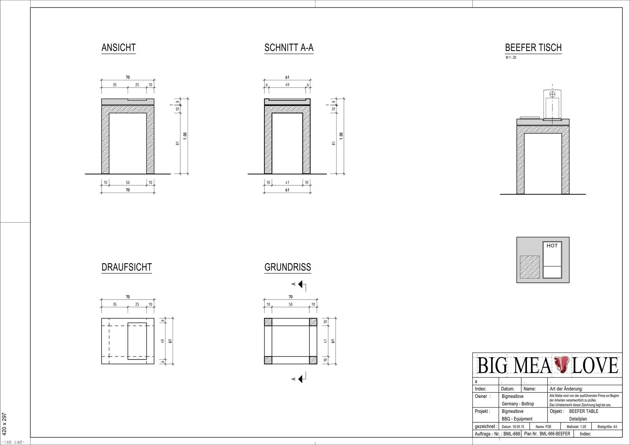 beefer tisch aus holz und beton bigmeatlove. Black Bedroom Furniture Sets. Home Design Ideas